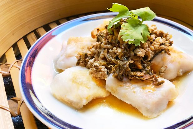 Steamed Fish Fillet with Fragrant Preserved Mustard