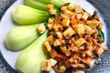 Bok Choy with Minced Pork and Dried Beancurd
