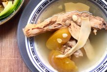 Pork Ribs, Pear And Chinese Almonds Soup