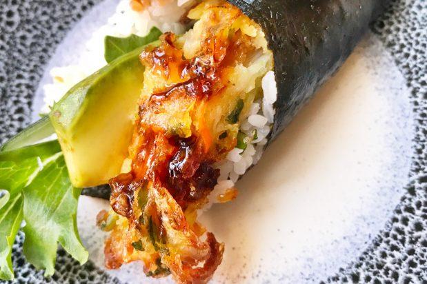 Vegetarian Fritter Hand Roll