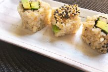 Avocado and Cucumber Brown Rice Roll