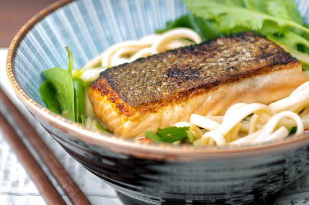 Salmon Teriyaki with Udon Noodle Salad