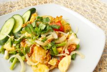 Spicy Salad with Fried Egg (Yum Khai-Dao)