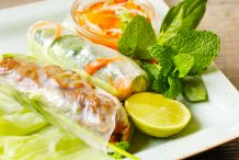 Vietnamese Grilled Pork Rice Paper Rolls