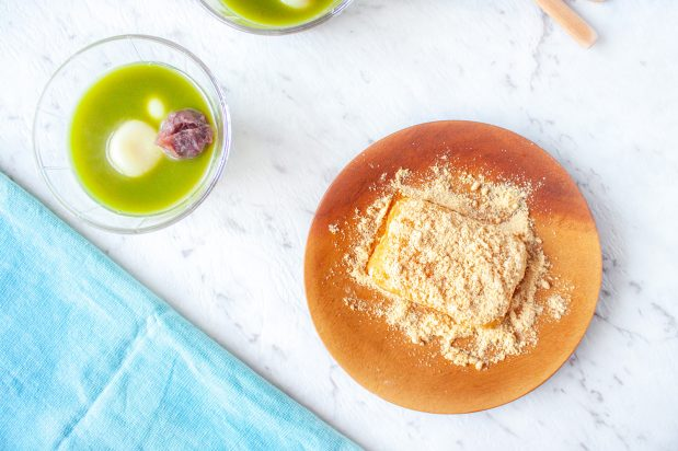 Mochi with Sweet Soy Flour (Kinako Mochi)