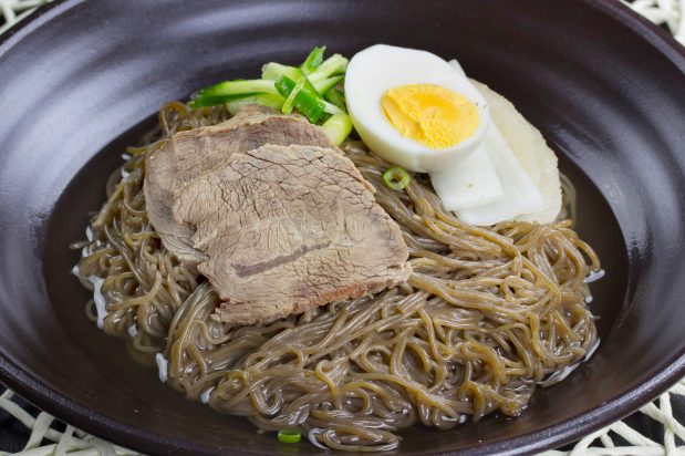 Korean Cold Noodle Soup (Mul Naeng Myun)