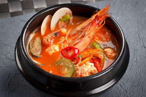 Korean Soft Tofu Hotpot (Sooduboo Jjigae)