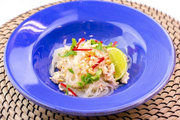 Mung Bean Vermicelli Salad with Chicken (Yum Woon Sen)