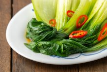 Blanched Bok Choy with Soy Sauce