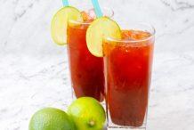 Thai Iced Lime Tea (Cha Ma-Now)