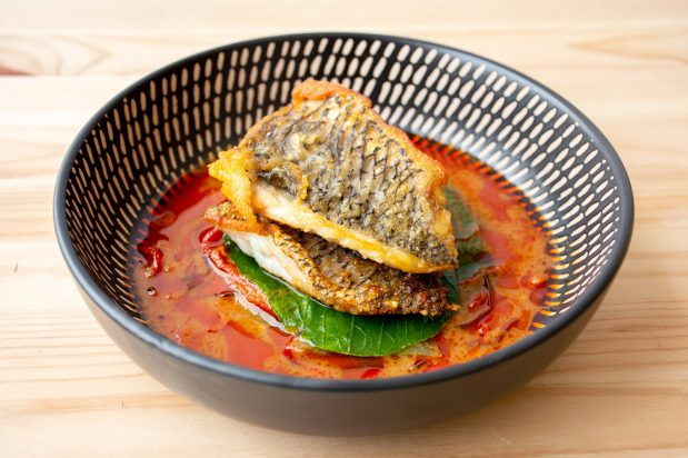 Barramundi Fillets with Red Curry