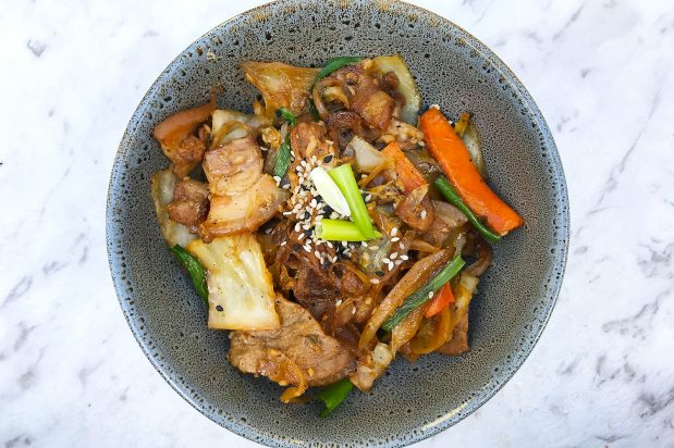 Korean Stir Fried Soy Pork