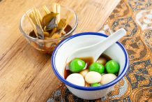 Indonesian Glutinous Rice Balls in Ginger Syrup (Wedang Ronde)