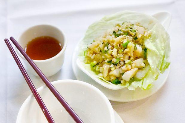 Seafood San Choy Bow