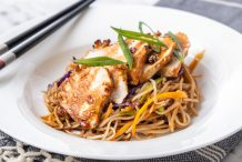 Soba Noodle Salad with Sesame Crusted Chicken