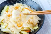 Stir Fried Cabbage with Cellophane Noodles