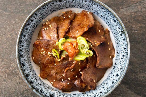 Grilled Beef Tongue Rice Bowl (Gyutan Don)