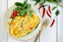 Omelette with Basil & Chilli