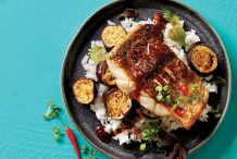 Balinese Fish with Tamarind Eggplant Sauce