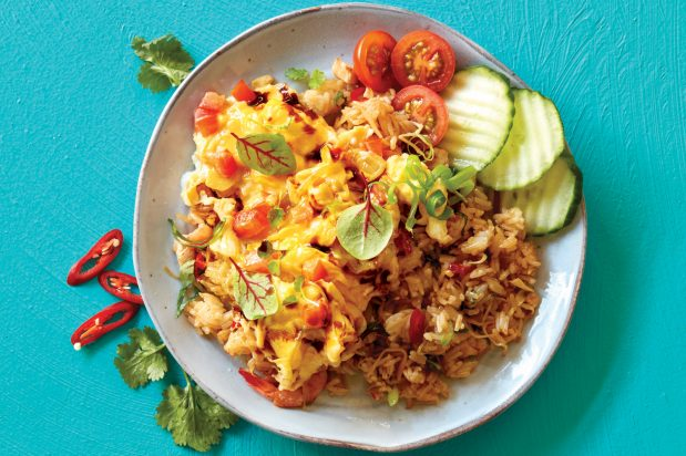 Indonesian Spicy Soy Scrambled Eggs
