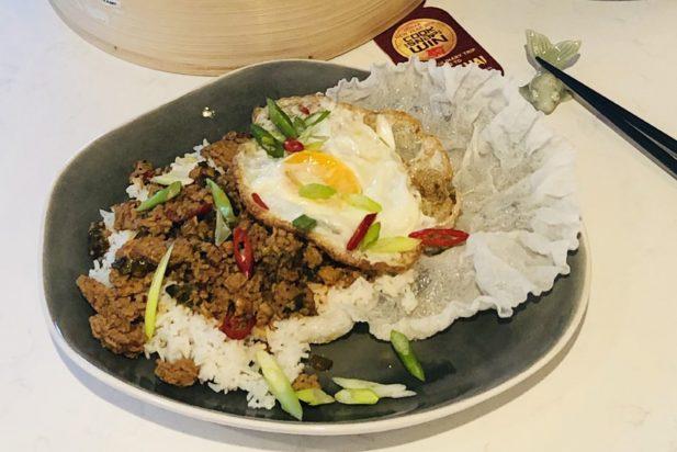 Shanghai Pork with Rice & Egg