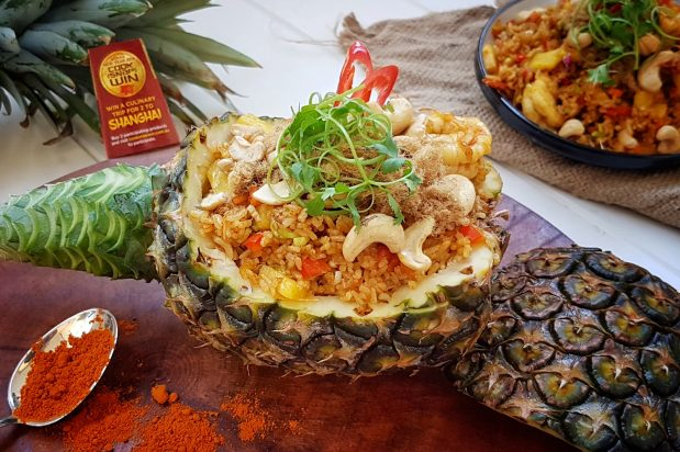 Pineapple Fried Rice with Prawns