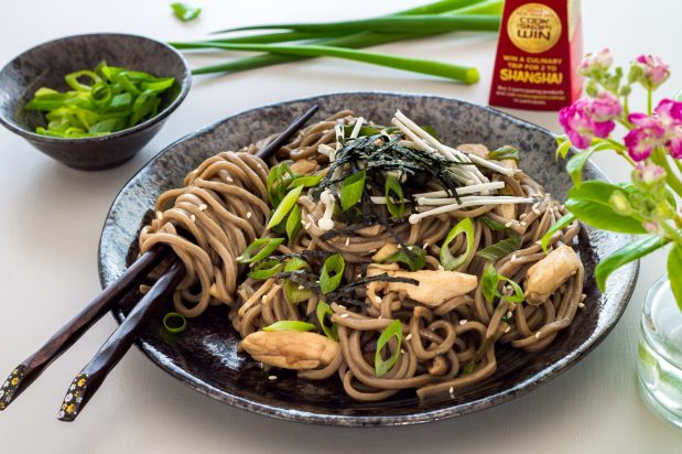 Soba Noodles with Chicken & Mushrooms