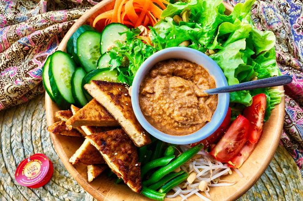 Traditional Indonesian Salad (Gado-Gado)