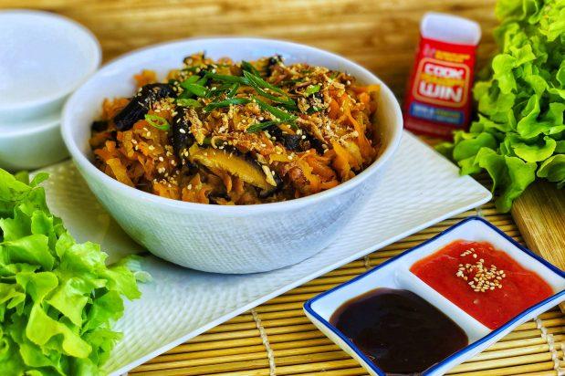 Jicama Carrot and Shiitake San Choy Bow