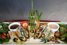 Shiitake & Asparagus Nori Rolls