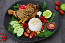Malaysian Kelantan Grilled Chicken with Coconut Rice