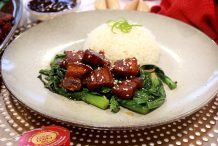 Hakka Braised Pork Belly with Chinese Broccoli