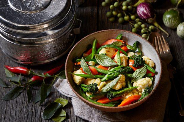 Stir-Fried Vegetables with Garlic and Fish Sauce (Pak Ruam Pad Nam Pla)