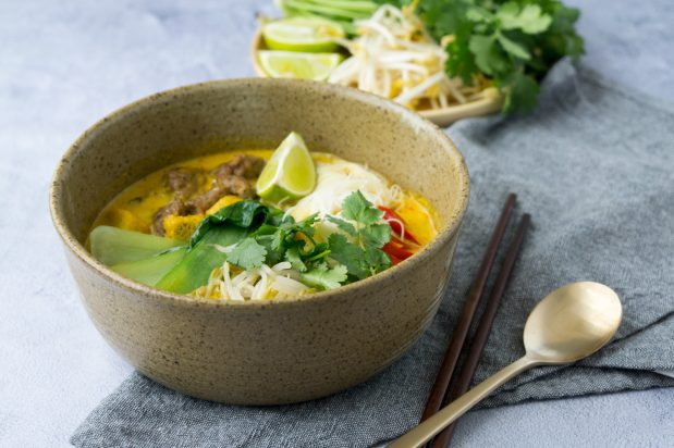 vegan laksa recipe by Asian Inspirations