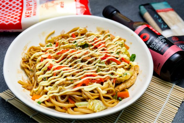 Chicken Yaki Udon (Fried Udon with Chicken)