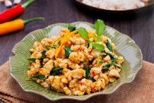 Thai Spicy Basil Stir Fried with Chicken (Gai Pad Kaprow)