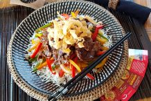 Sweet Pepper Rainbow Steak