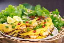 Sizzling Saigon Crepes (Banh Xeo)