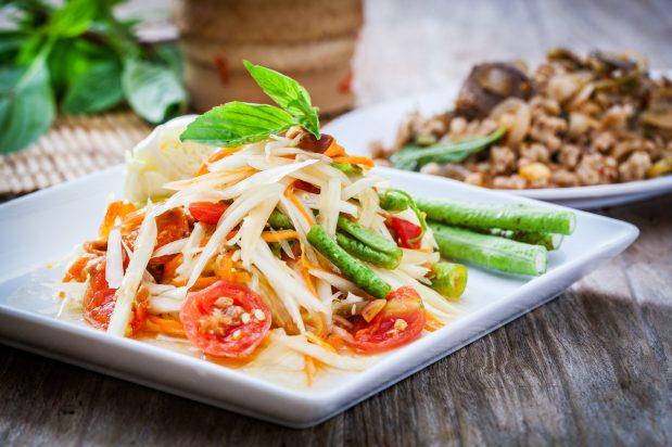 Green Papaya Salad with Dried Shrimp (Som Tum)
