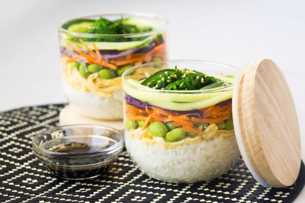 asian meals in jars