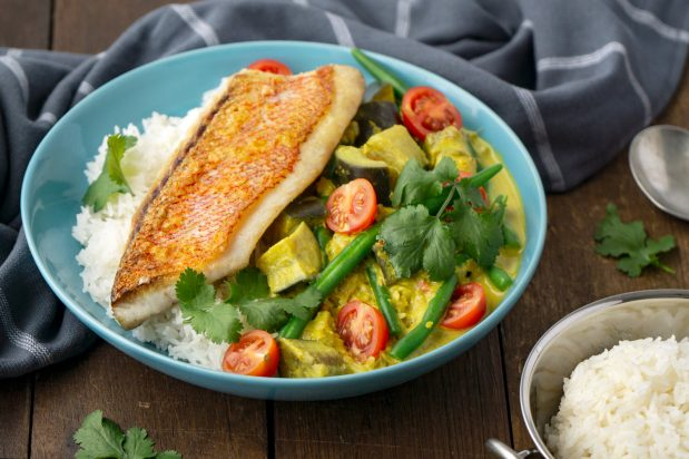 Thai Yellow Curry Fish