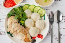 Hainanese Chicken Rice Balls
