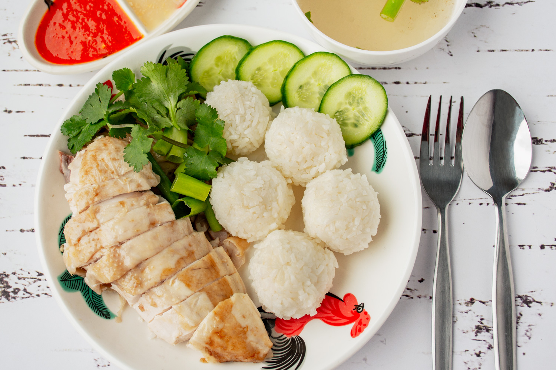 Hainanese Chicken Rice Balls Asian Inspirations