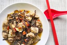 Chinese Sesame Chicken with Black Fungus