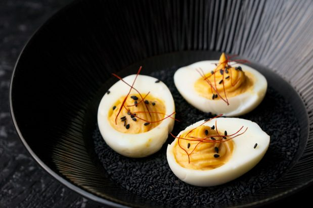 Miso Devilled Eggs