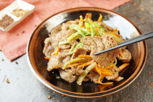 Vegan Sichuan-Style Beef Stir Fry