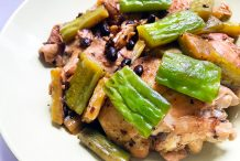 Braised Chicken and Bitter Melon in Black Bean Sauce