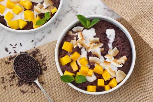 Coconut & Mango Riceberry Rice Pudding