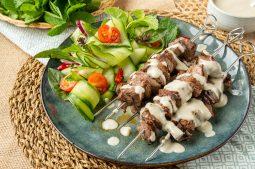 Thai Green Curry Beef Skewers