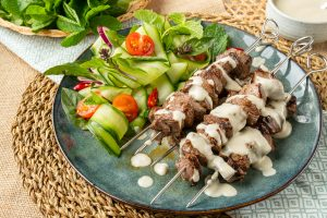 Thai Green Curry Beef Skewers